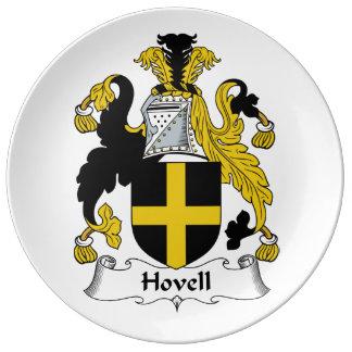 Escudo de la familia de Hovell Plato De Cerámica