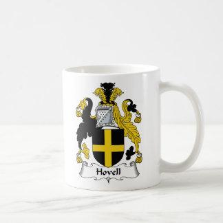 Escudo de la familia de Hovell Taza Básica Blanca
