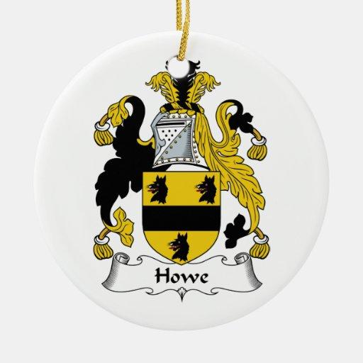 Escudo de la familia de Howe Adorno Redondo De Cerámica