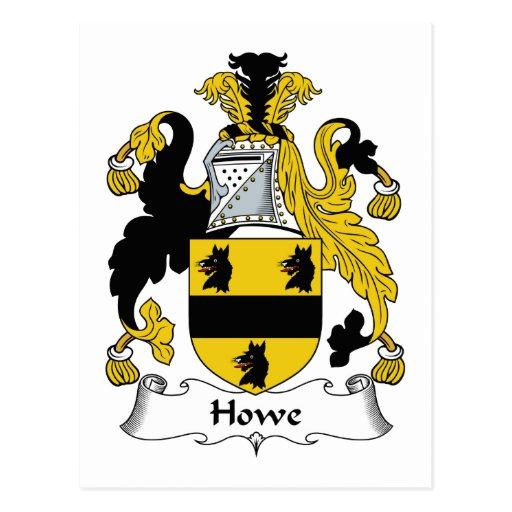 Escudo de la familia de Howe Postal