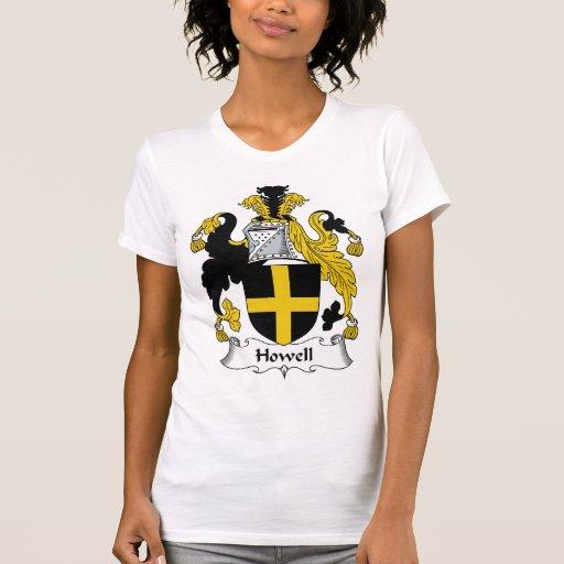 Escudo de la familia de Howell Camisetas