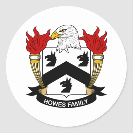 Escudo de la familia de Howes Pegatina Redonda
