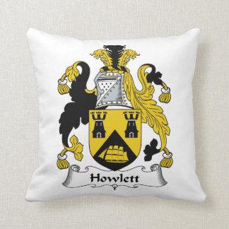 Escudo de la familia de Howlett Almohada