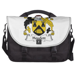 Escudo de la familia de Howlett Bolsas Para Ordenador