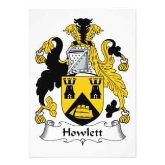 Escudo de la familia de Howlett Invitacion Personal