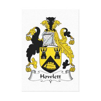 Escudo de la familia de Howlett Lona Estirada Galerias