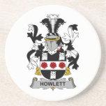 Escudo de la familia de Howlett Posavasos Diseño