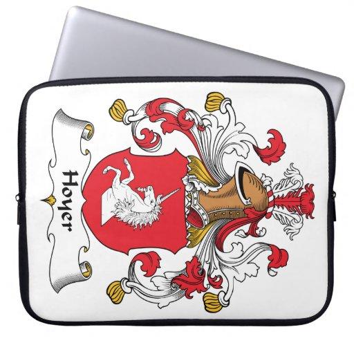 Escudo de la familia de Hoyer Funda Portátil