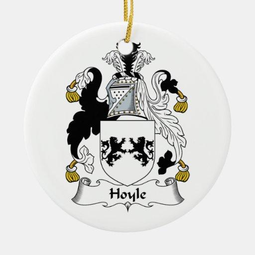 Escudo de la familia de Hoyle Adorno Redondo De Cerámica