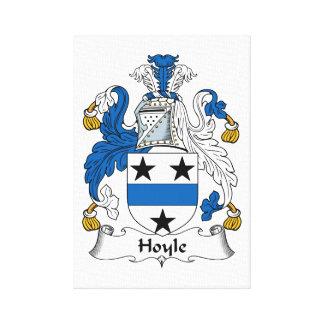 Escudo de la familia de Hoyle Lienzo Envuelto Para Galerias