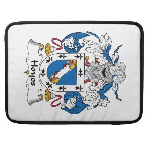 Escudo de la familia de Hoyos Funda Para Macbooks