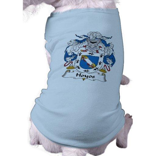 Escudo de la familia de Hoyos Playera Sin Mangas Para Perro