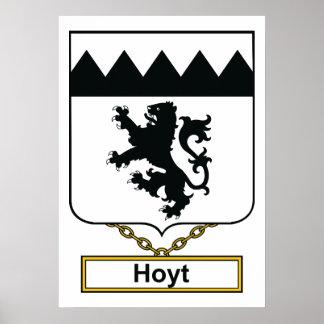Escudo de la familia de Hoyt Póster