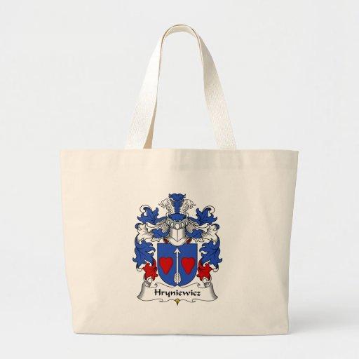 Escudo de la familia de Hryniewicz Bolsa Tela Grande