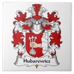 Escudo de la familia de Hubarewicz Azulejo Cerámica