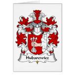Escudo de la familia de Hubarewicz Felicitación