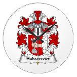 Escudo de la familia de Hubarewicz Relojes De Pared