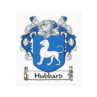 Escudo de la familia de Hubbard Lienzo Envuelto Para Galerias