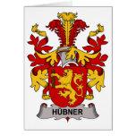 Escudo de la familia de Hubner Felicitación