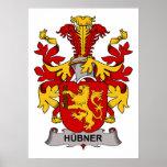 Escudo de la familia de Hubner Poster