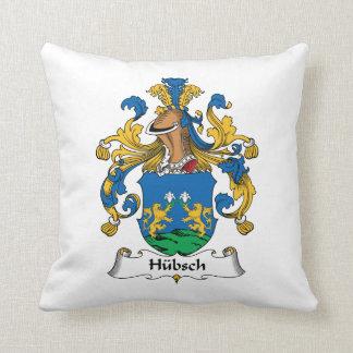 Escudo de la familia de Hubsch Cojin