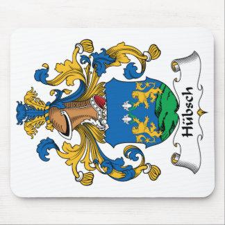 Escudo de la familia de Hubsch Alfombrilla De Ratón