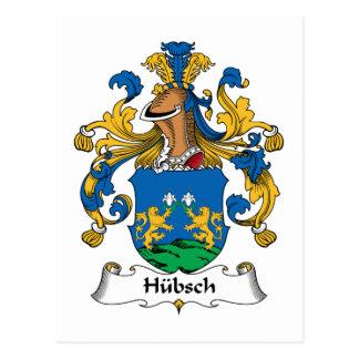 Escudo de la familia de Hubsch Postal