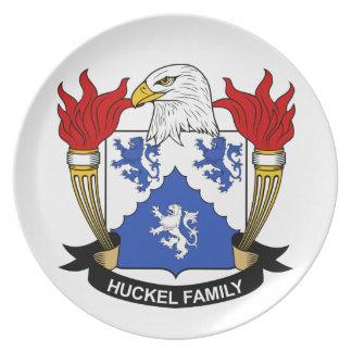 Escudo de la familia de Huckel Platos De Comidas