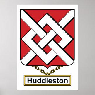 Escudo de la familia de Huddleston Póster