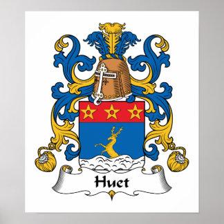 Escudo de la familia de Huet Póster