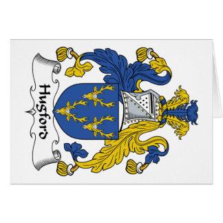 Escudo de la familia de Hugford Tarjeta De Felicitación