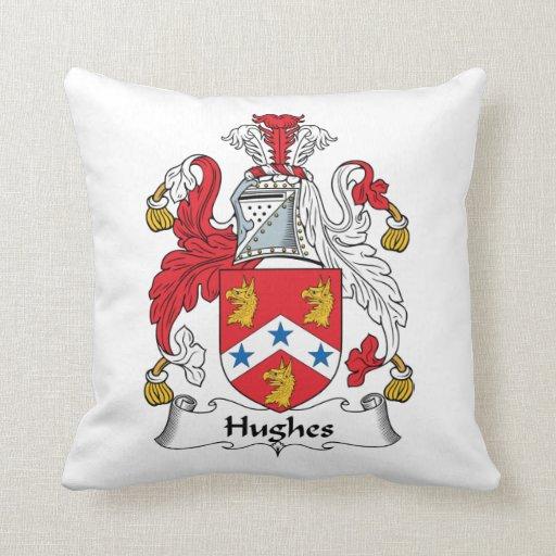 Escudo de la familia de Hughes Cojín