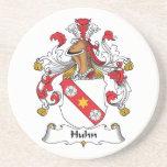 Escudo de la familia de Huhn Posavasos Manualidades
