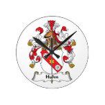 Escudo de la familia de Huhn Relojes