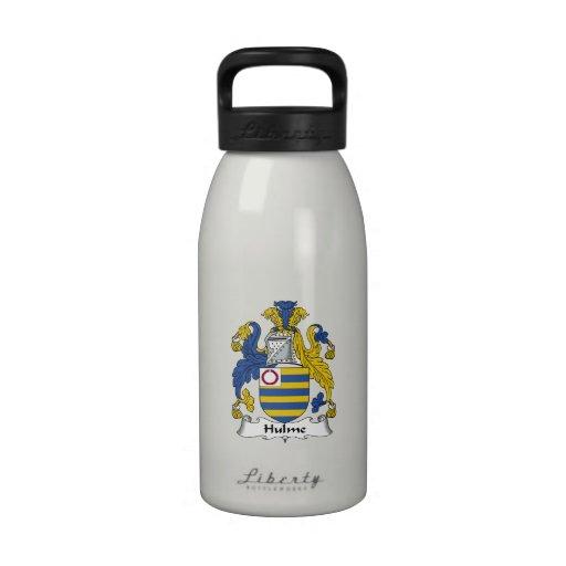 Escudo de la familia de Hulme Botellas De Agua Reutilizables
