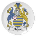 Escudo de la familia de Hulme Plato De Cena