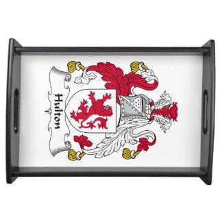 Escudo de la familia de Hulton Bandeja