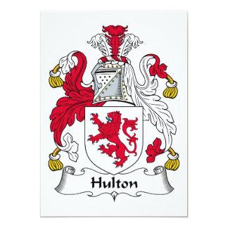 Escudo de la familia de Hulton Invitación 12,7 X 17,8 Cm