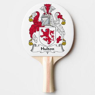Escudo de la familia de Hulton Pala De Tenis De Mesa