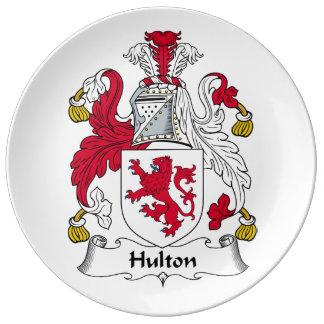 Escudo de la familia de Hulton Plato De Cerámica