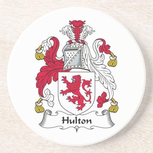 Escudo de la familia de Hulton Posavasos Diseño