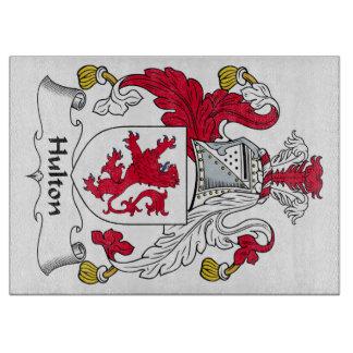 Escudo de la familia de Hulton Tabla De Cortar