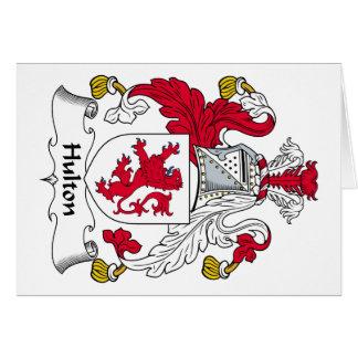 Escudo de la familia de Hulton Tarjeta