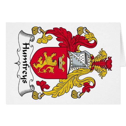 Escudo de la familia de Humfreys Tarjeton