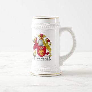 Escudo de la familia de Humphreys Jarra De Cerveza