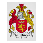 Escudo de la familia de Humphreys Posters