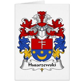 Escudo de la familia de Husarzewski Tarjeta De Felicitación