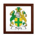 Escudo de la familia de Hussey Cajas De Recuerdo