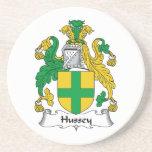 Escudo de la familia de Hussey Posavasos Manualidades