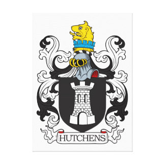 Escudo de la familia de Hutchens Lona Estirada Galerias